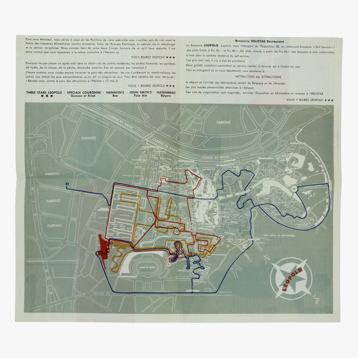 Afbeeldingen van expo 58 folder leopold, sabena brussel