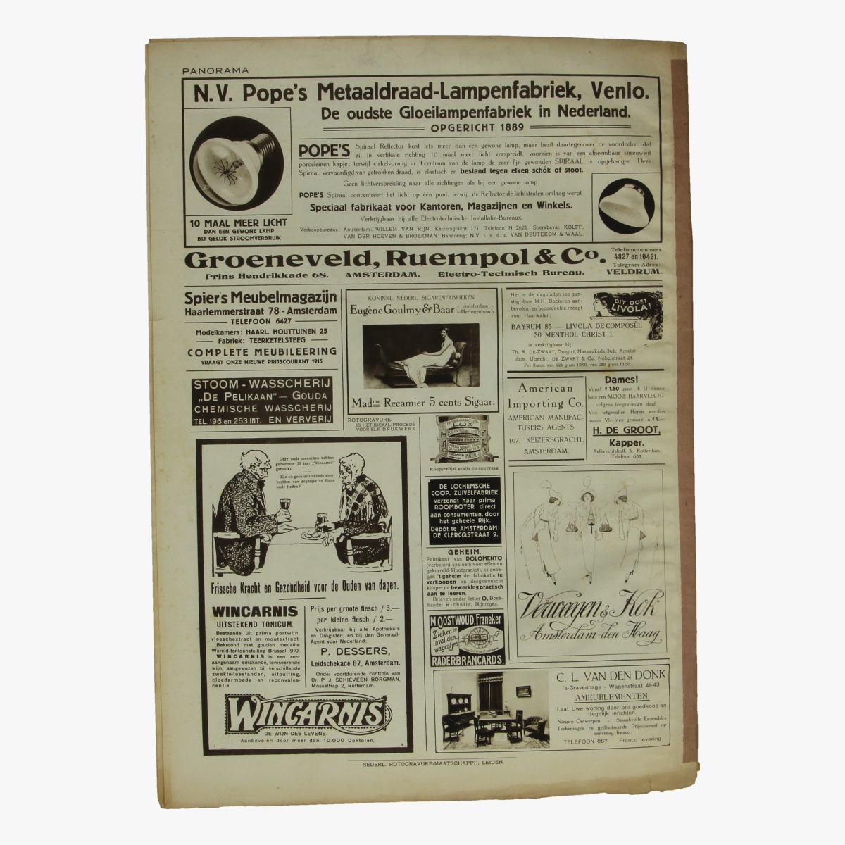 Afbeeldingen van oude weekblad panorama N°12 10 februari 1915