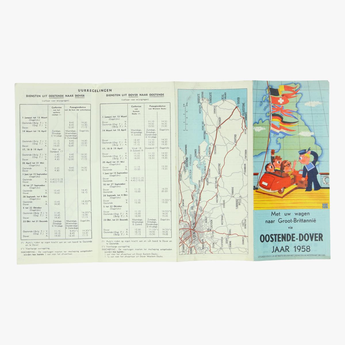 Afbeeldingen van expo 58 met uw wagen naar groot brittannie via oostende-dover jaar 1958
