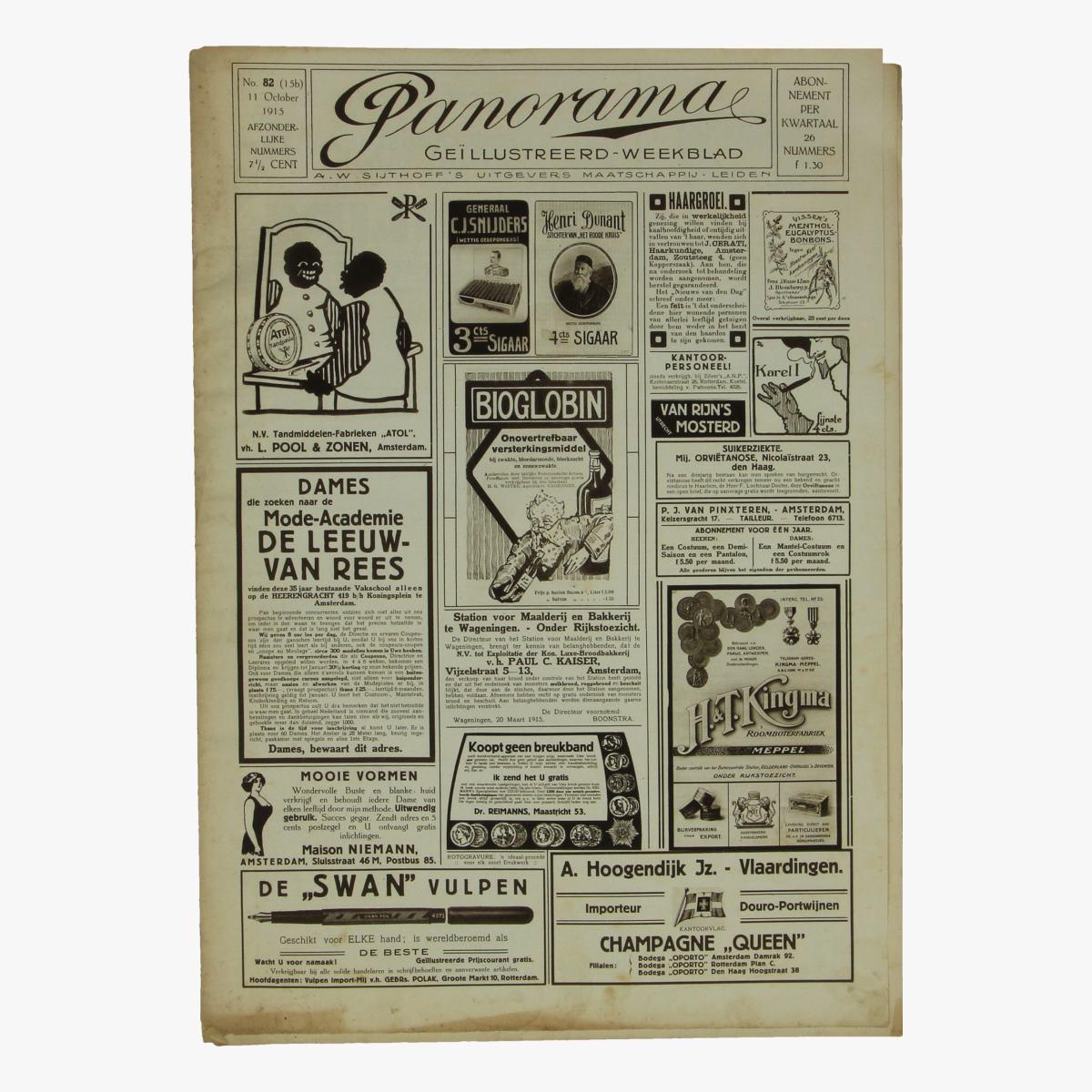 Afbeeldingen van oude weekblad panorama N°82  11 october 1915