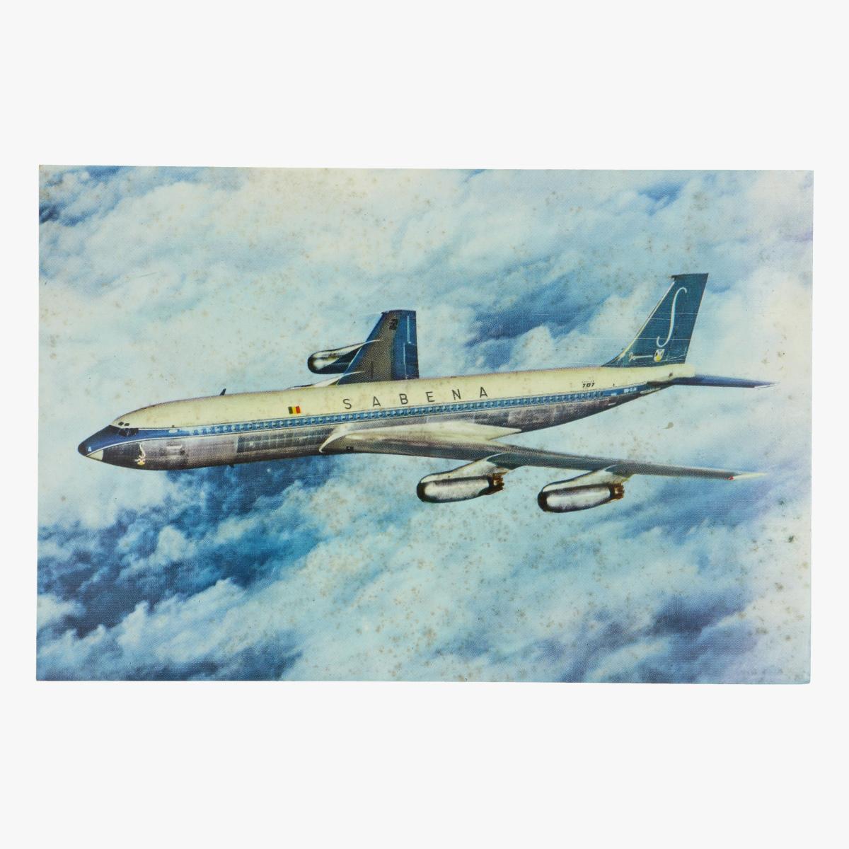 Afbeeldingen van postkaart sabena - belgian world airlines - boeing - printed in belgium