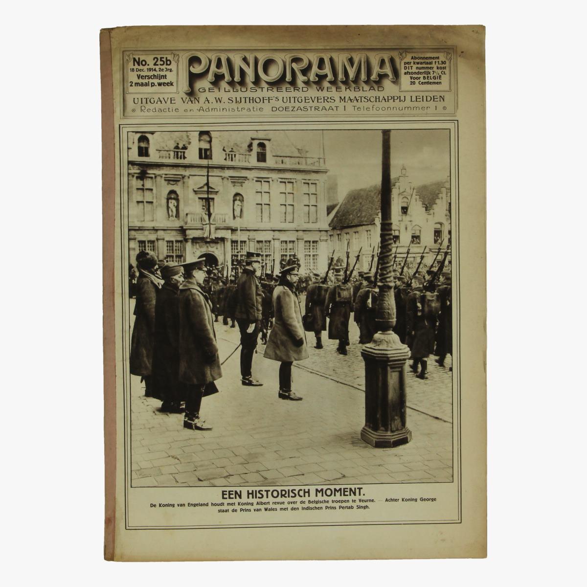 Afbeeldingen van oude weekblad panorama N°25 b 18 dec. 1914.