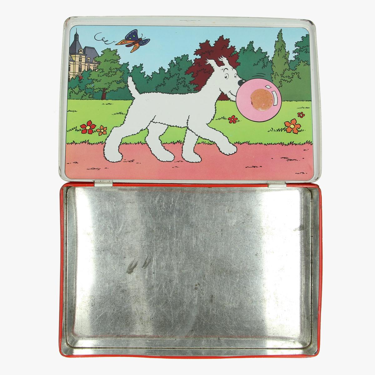 Afbeeldingen van blikken doos kuifje milou.bubble gum.bobbie