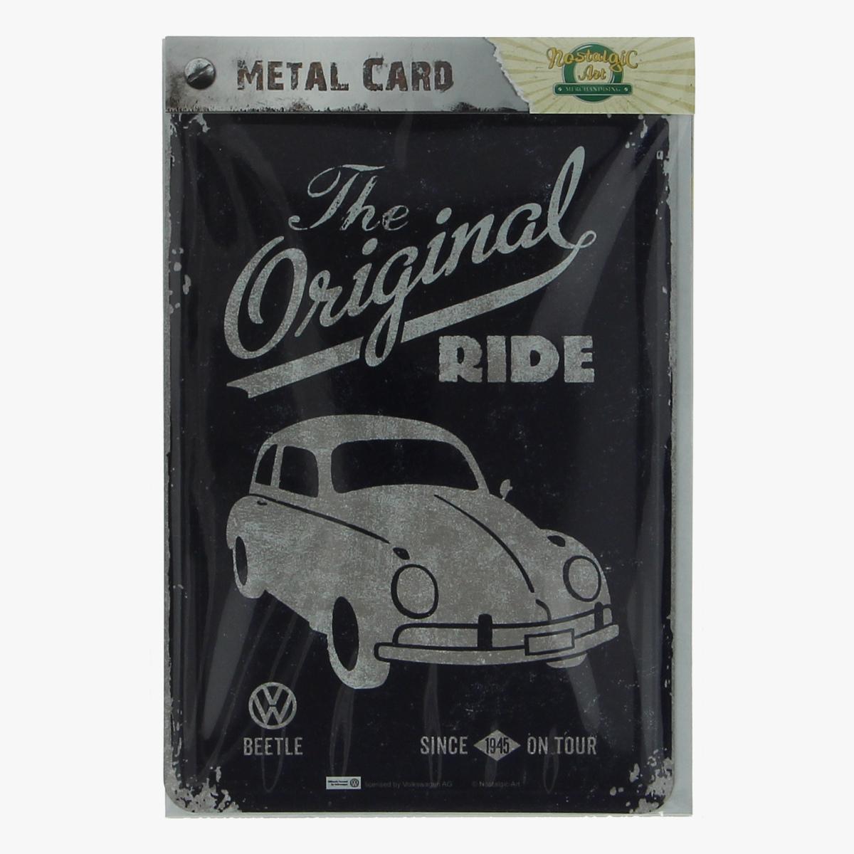 Afbeeldingen van metal card the original ride volkswagen beetle