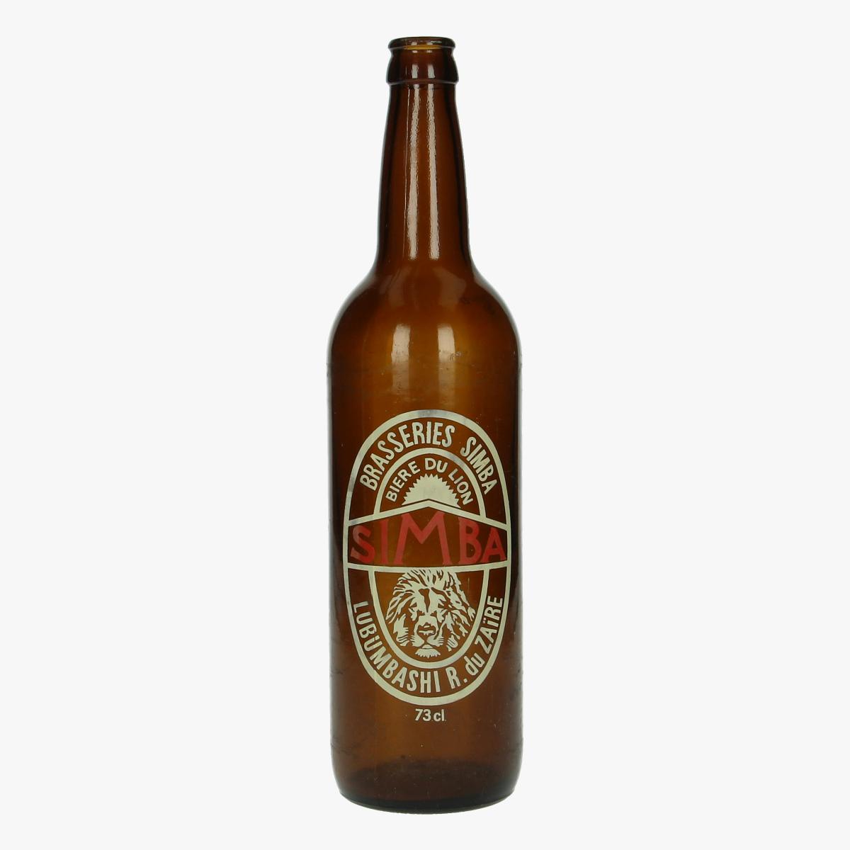Afbeeldingen van oude bierfles brasseries simba