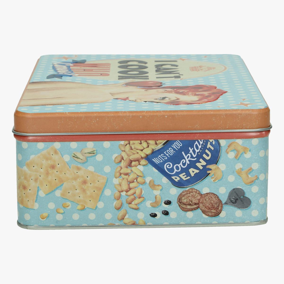 Afbeeldingen van blikken doos I can't cook who cares? repro