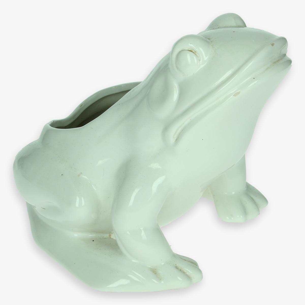 Afbeeldingen van porseleinen kikker -  bloempot