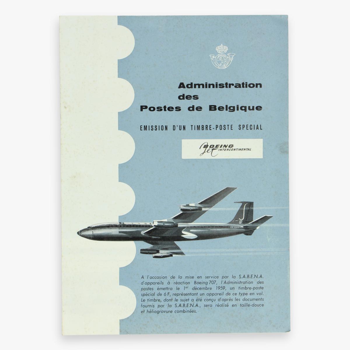 Afbeeldingen van fleyer sabena - boeing intercontinental - administration des postes de belgique