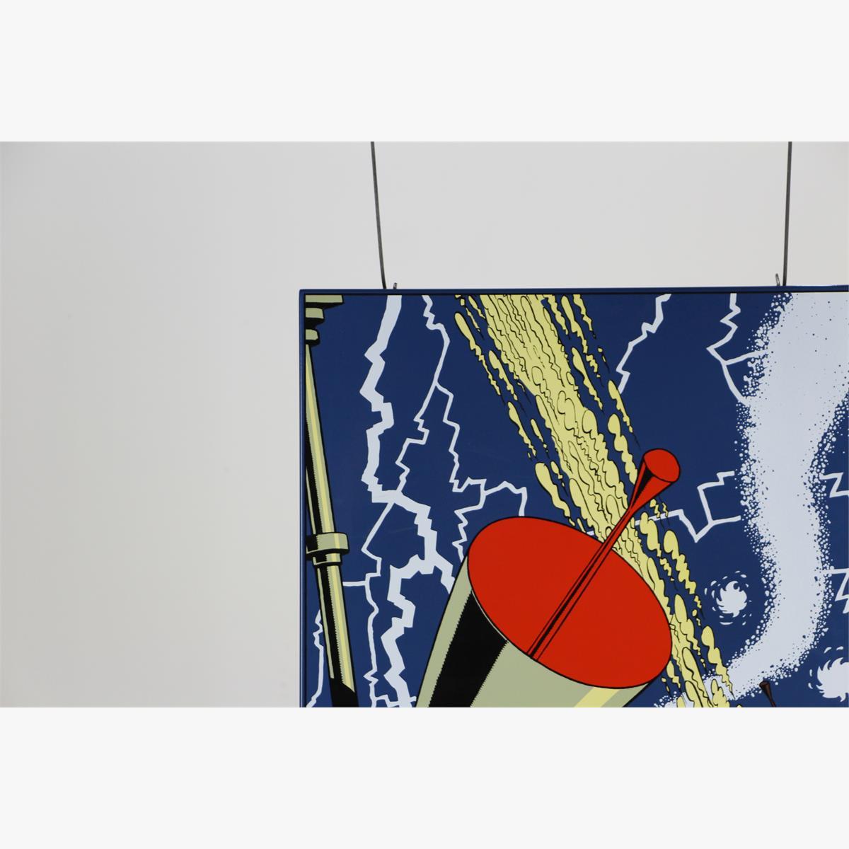 "Afbeeldingen van emaille bord blake & mortimer "" s.o.s meteoren oplage 99 ex 2011 plaque emaillee s.o.s météores"