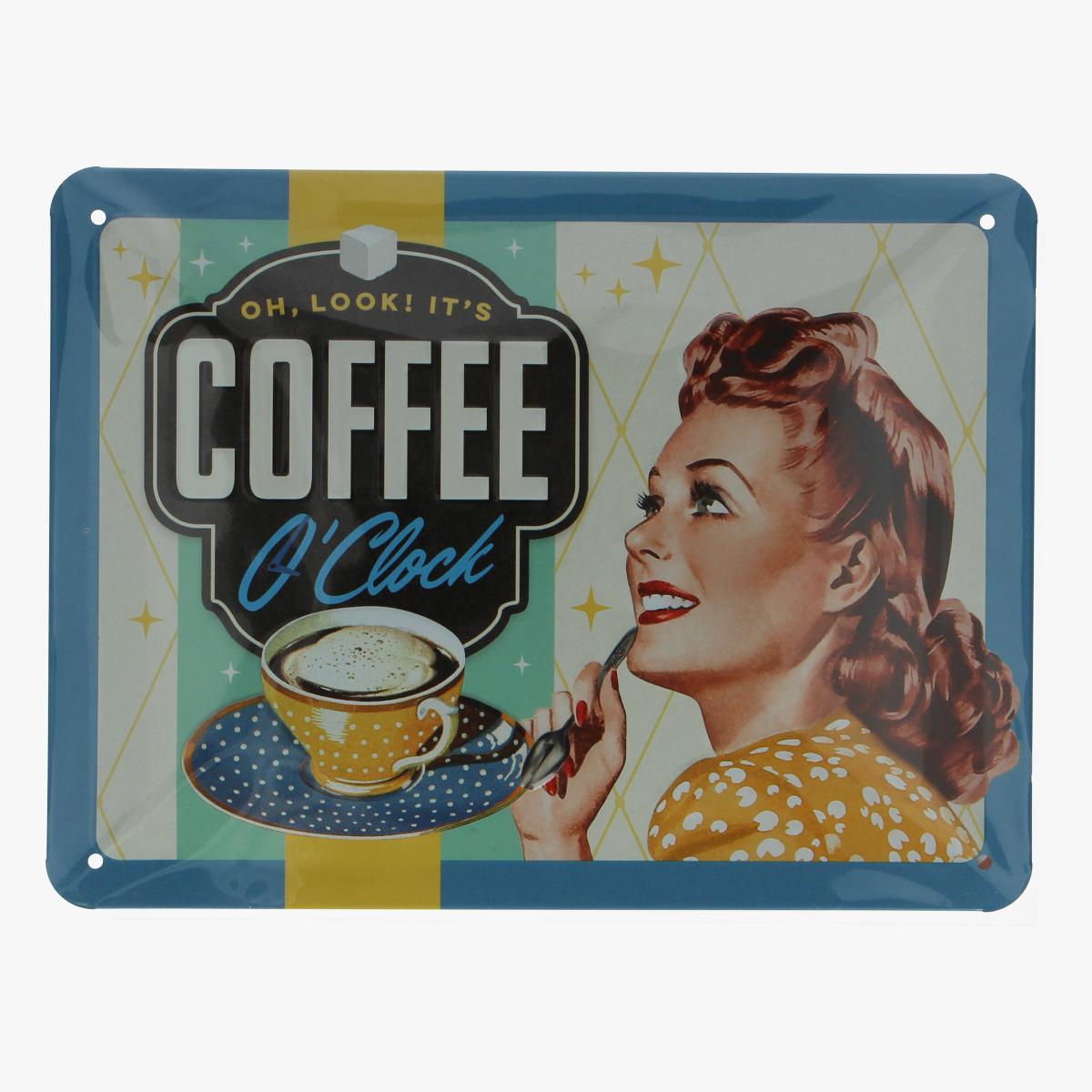 Afbeeldingen van blikken bordje oh,look! it's coffee o clock