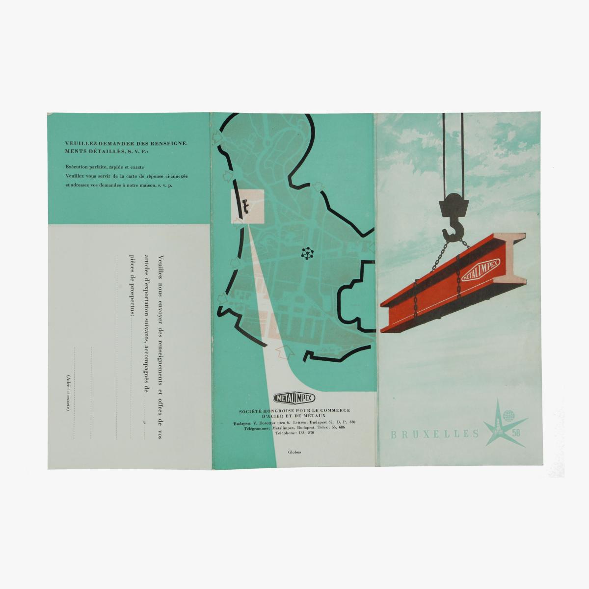 Afbeeldingen van expo 58 folder metal impex brussel