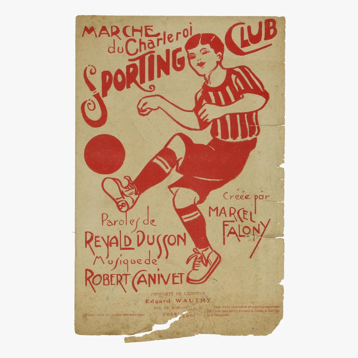 Afbeeldingen van voetbal marche du charleroi sporting club