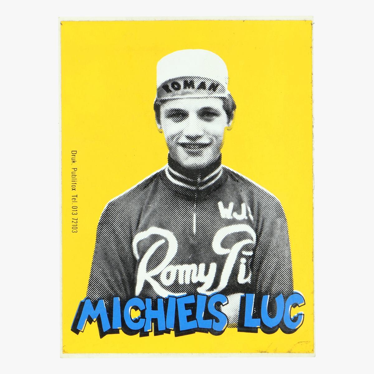 Afbeeldingen van Oude sticker Michiels Luc 1972