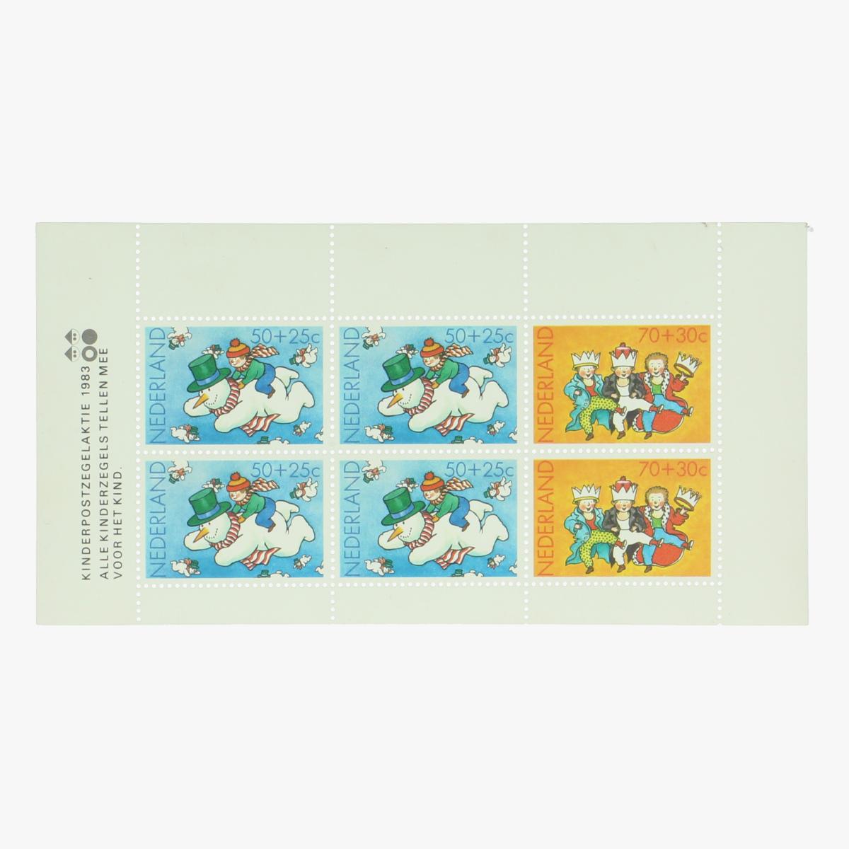 Afbeeldingen van Vel Postzegels Nederland Kinderpostzegelaktie 1983