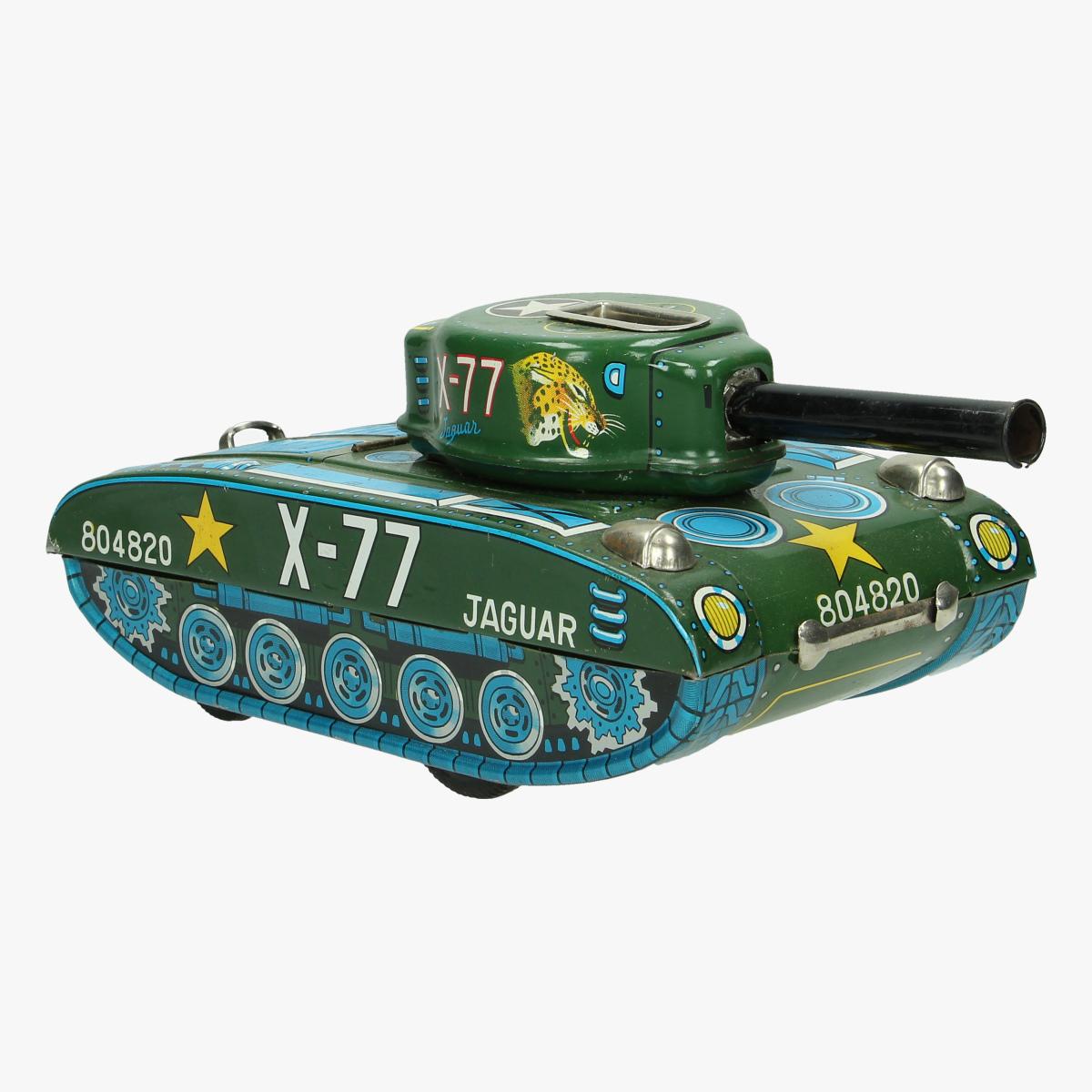Afbeeldingen van blikken tank jaguar x-77 made in japan battery operated
