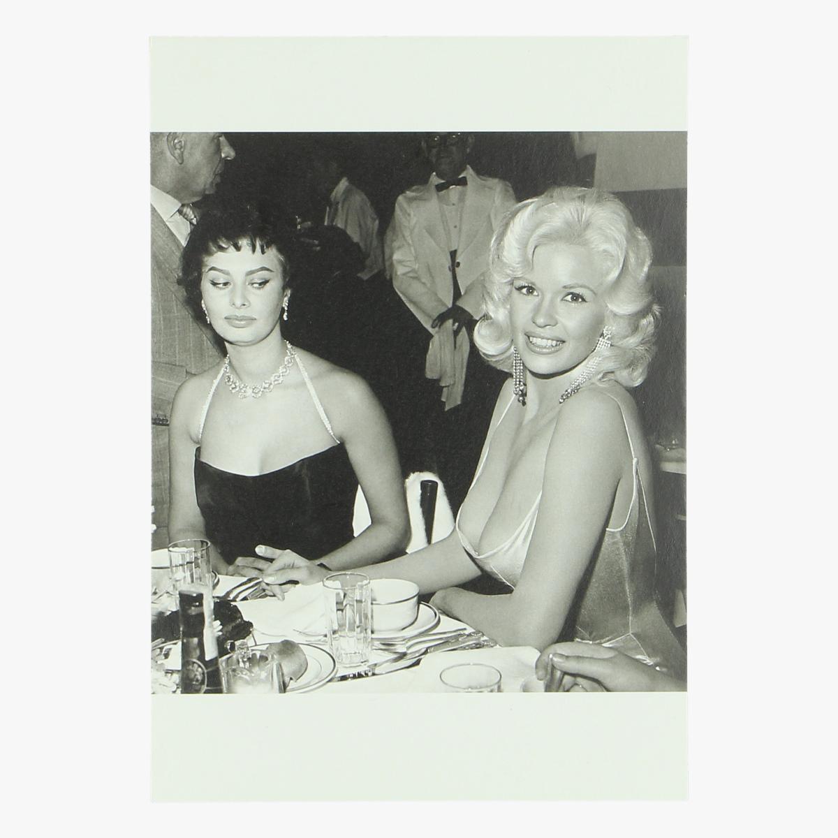 Afbeeldingen van postkaart Jayne Mansfield and Sophie Loren 1957 repro