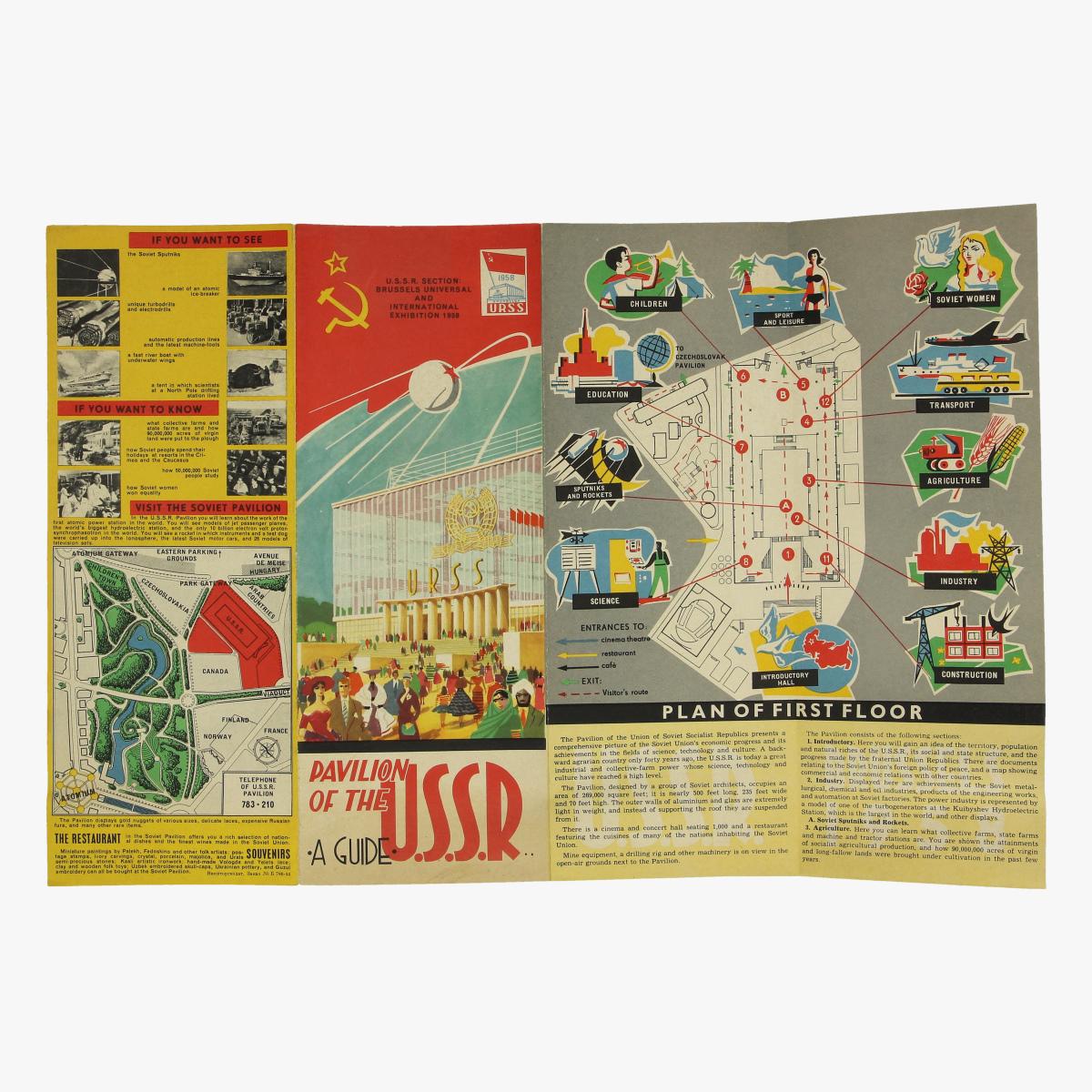 Afbeeldingen van expo 58 a guide pavilion of the u.s.s.r. 1958