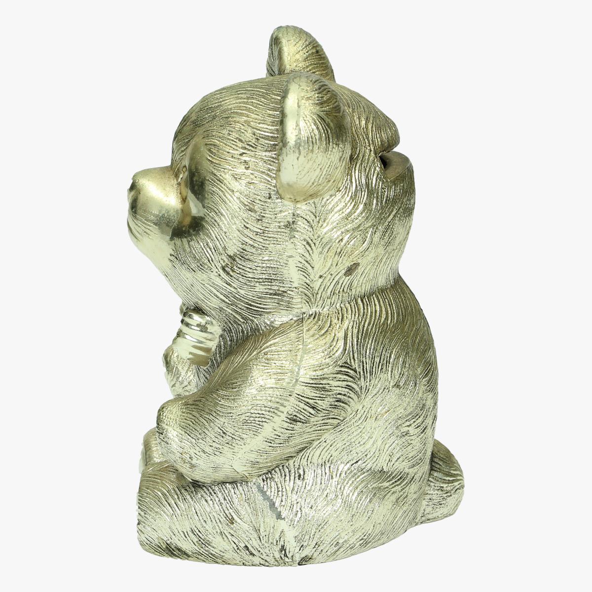 Afbeeldingen van spaarpot beertje messing