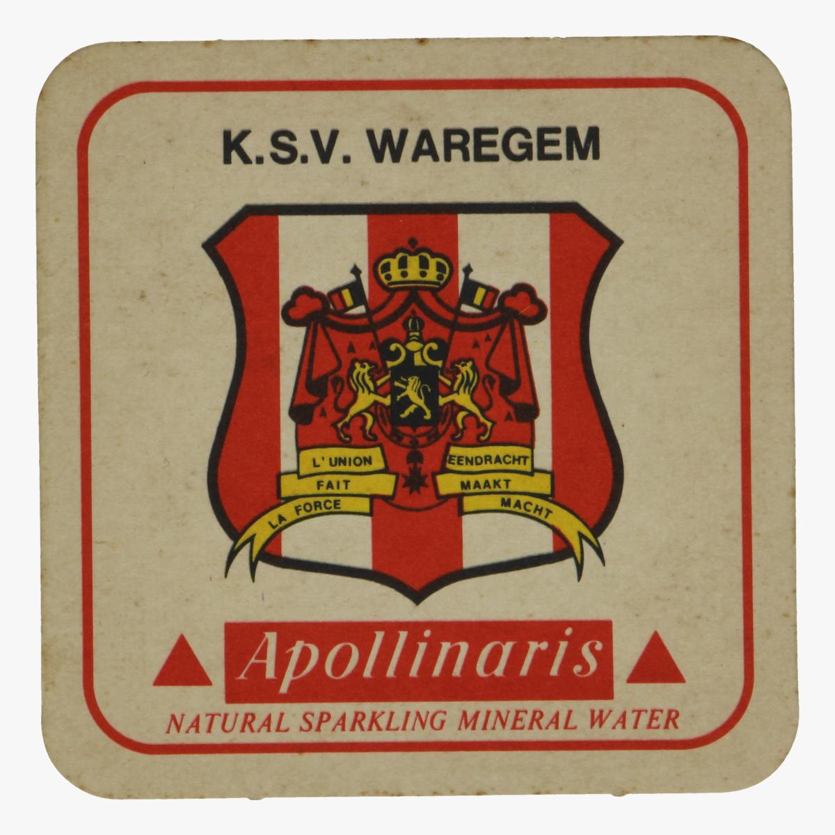 Afbeeldingen van bierkaartje k.s.v. waregem apollinaris