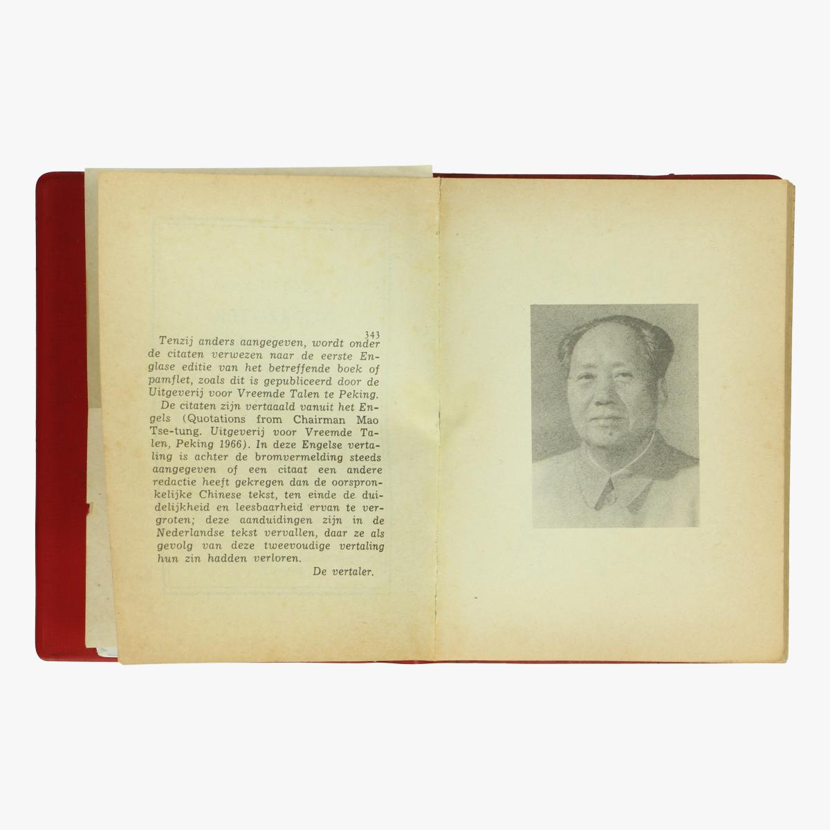 Afbeeldingen van Rode boekje Mao Tse-Toeng 1967