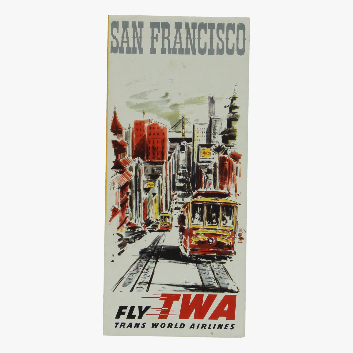Afbeeldingen van folder fly trans world airlines - twa - san francisco