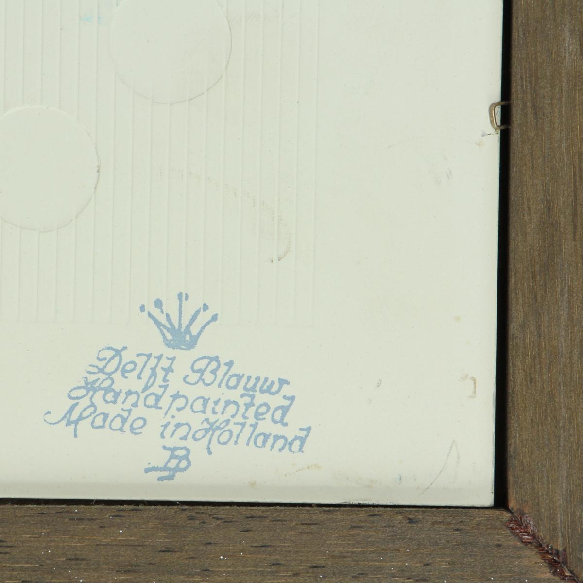 Afbeeldingen van Spreuktegels Delfts Blauw Setje van 3 stuks.