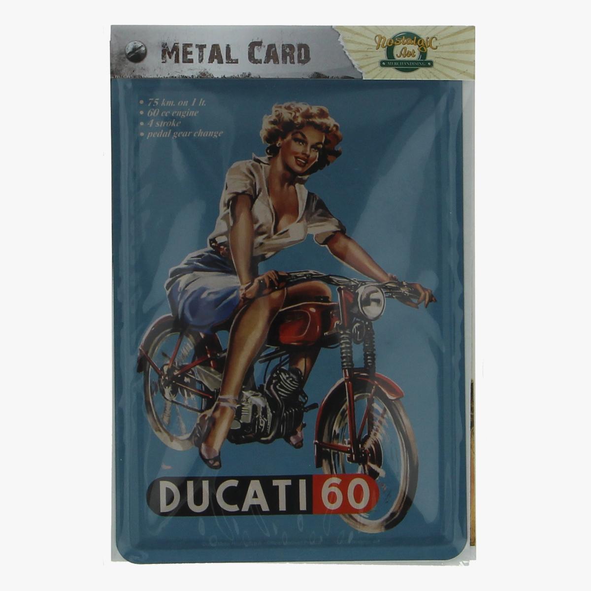 Afbeeldingen van metal card ducati 60