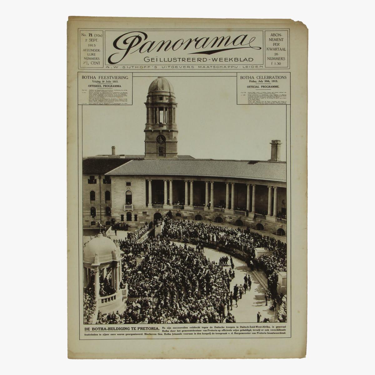 Afbeeldingen van oude weekblad panorama N°71  2 sept 1915