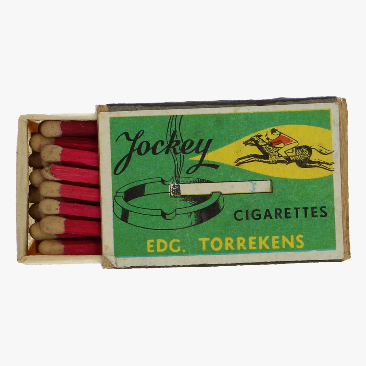 Afbeeldingen van oude luciferdoosje Jockey