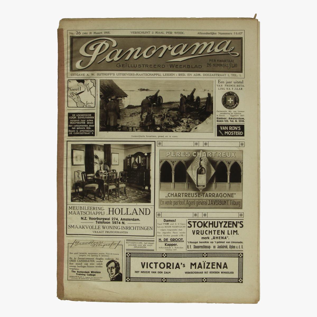 Afbeeldingen van oude weekblad panorama N°26  31 maart 1915.