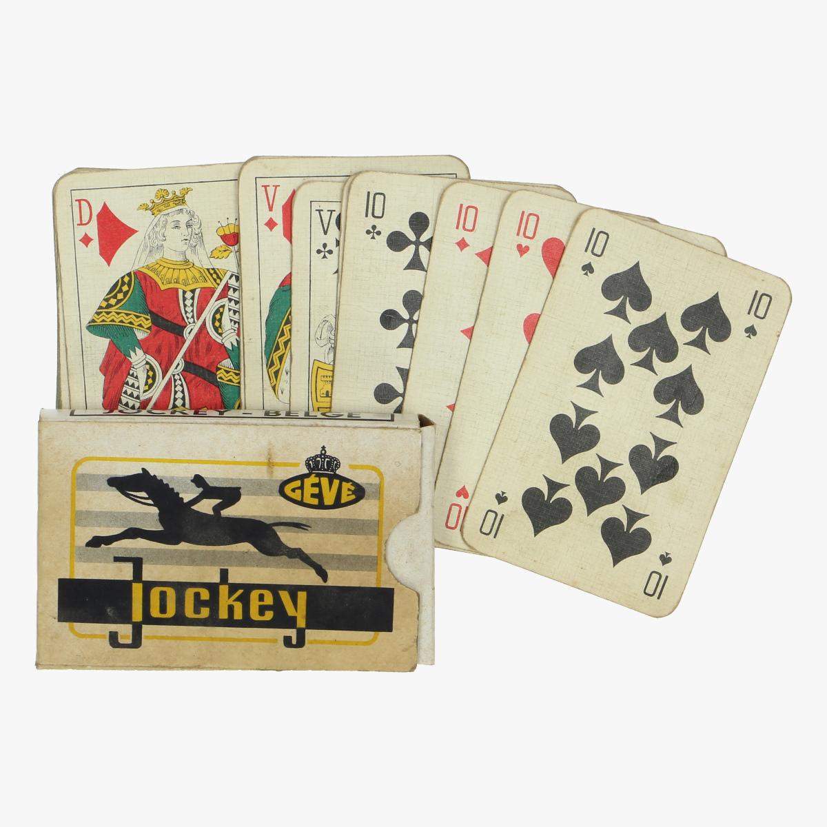 Afbeeldingen van oud spel kaarten jockey-Belge