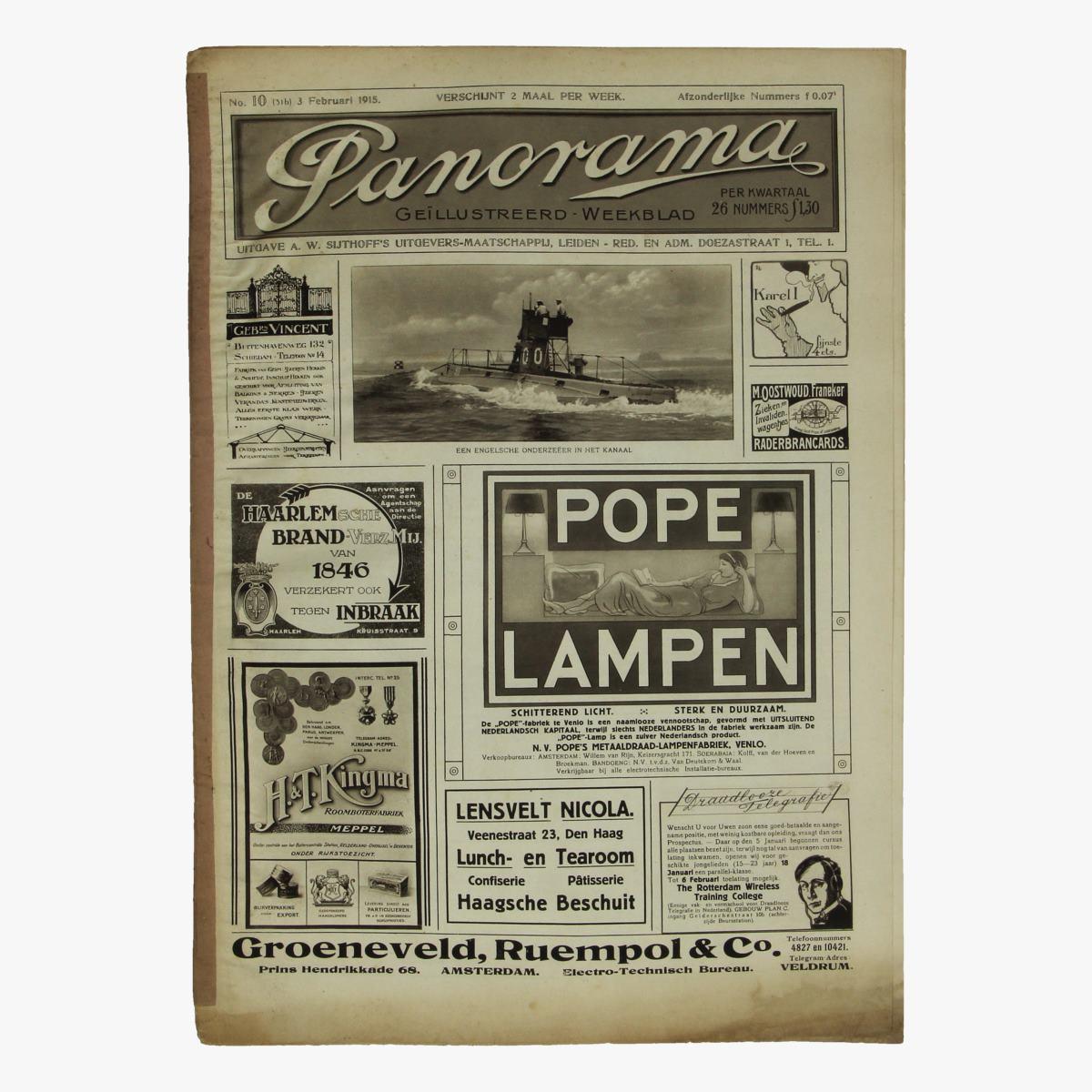 Afbeeldingen van oude weekblad panorama N°10  30 feb 1915