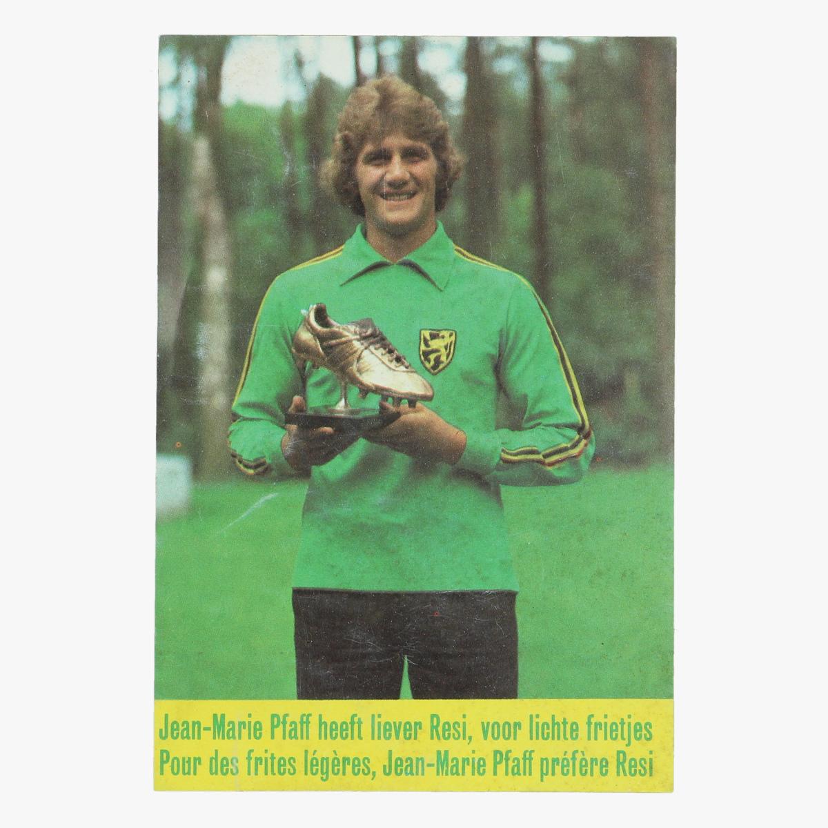 Afbeeldingen van sticker jean-marie pfaff gouden schoen - reclame resi frietvet