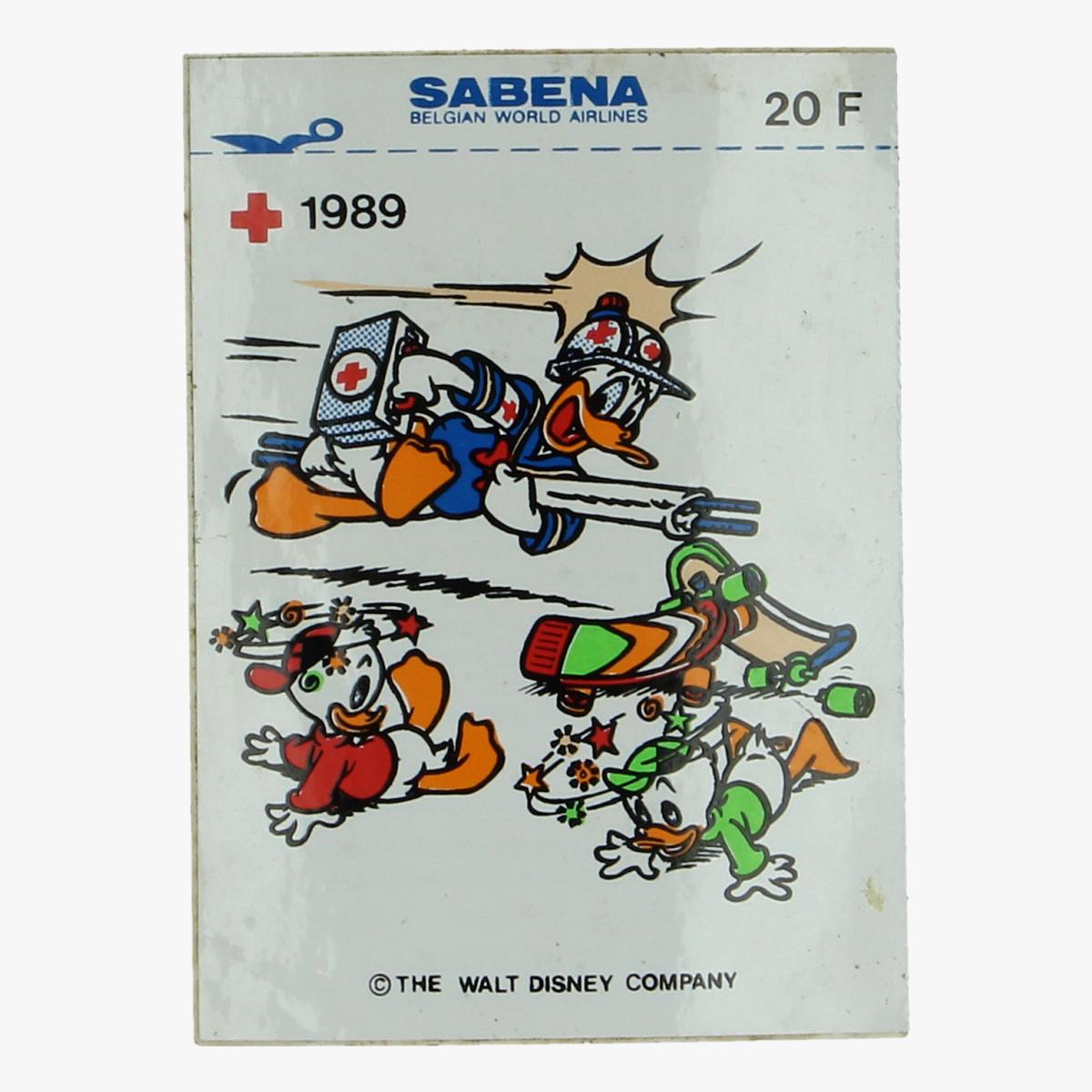 Afbeeldingen van sticker sabena,  het belgische rode kruis 1989 donald duck the walt disney