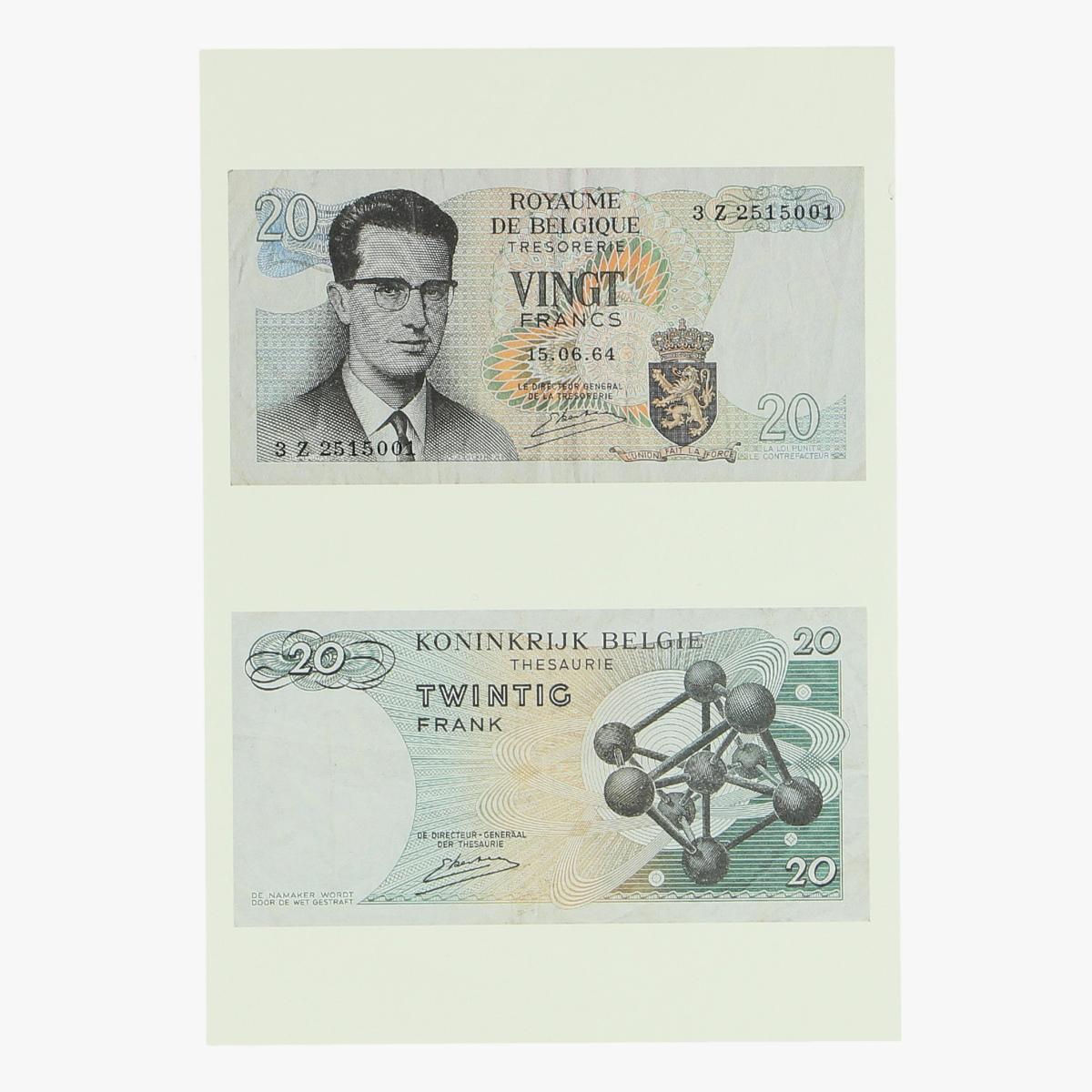 Afbeeldingen van postkaart 20 frank