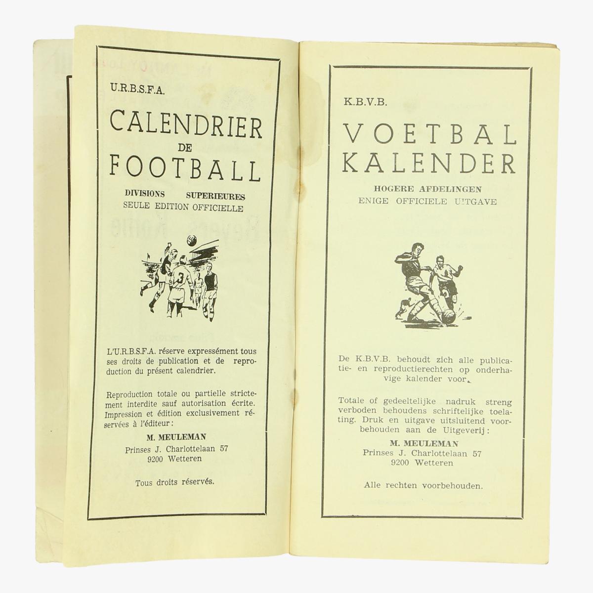 Afbeeldingen van voetbalkalender 1974-1975