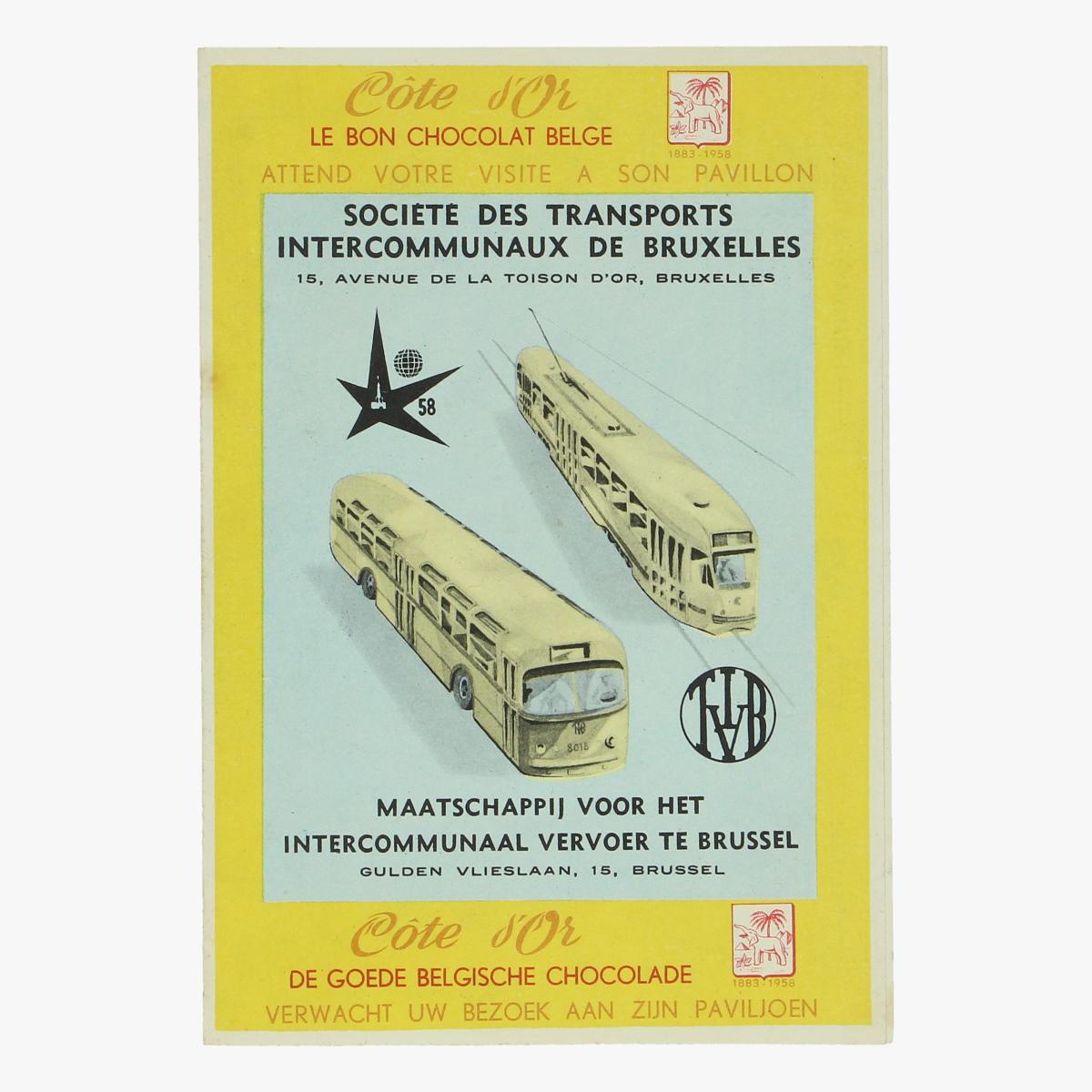 Afbeeldingen van expo 58 cote d'or le bon chocolat belge
