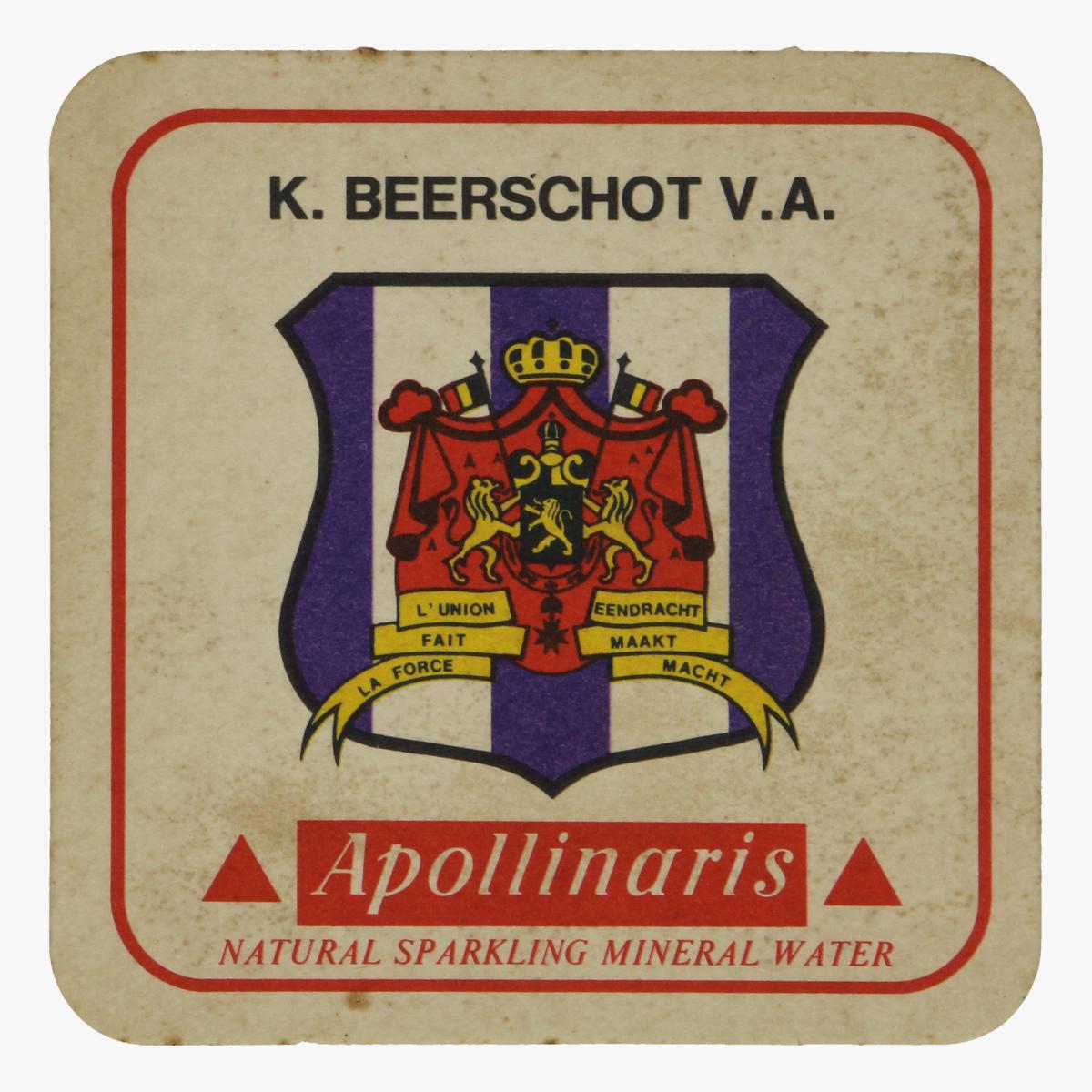 Afbeeldingen van bierkaartje k. beerschot v.a.