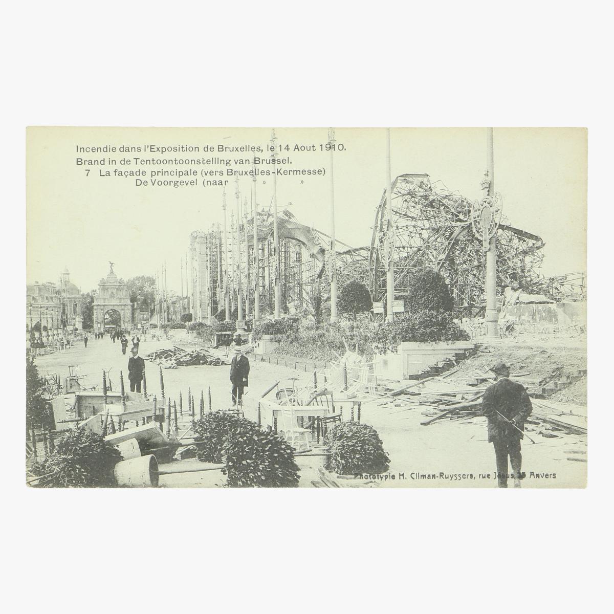 Afbeeldingen van postkaart bruxelles exposition 1910 brand in de tentoonstelling van brussel