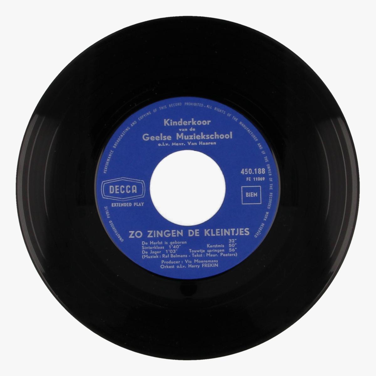 Afbeeldingen van Zo zingen de kleintjes - Decca LP