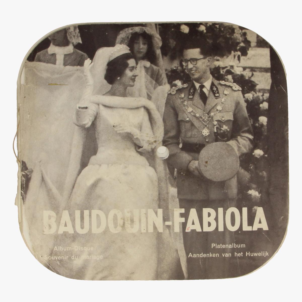 Afbeeldingen van Platenalbum - aandenken van het huwelijk Fabiola en Boudewijn