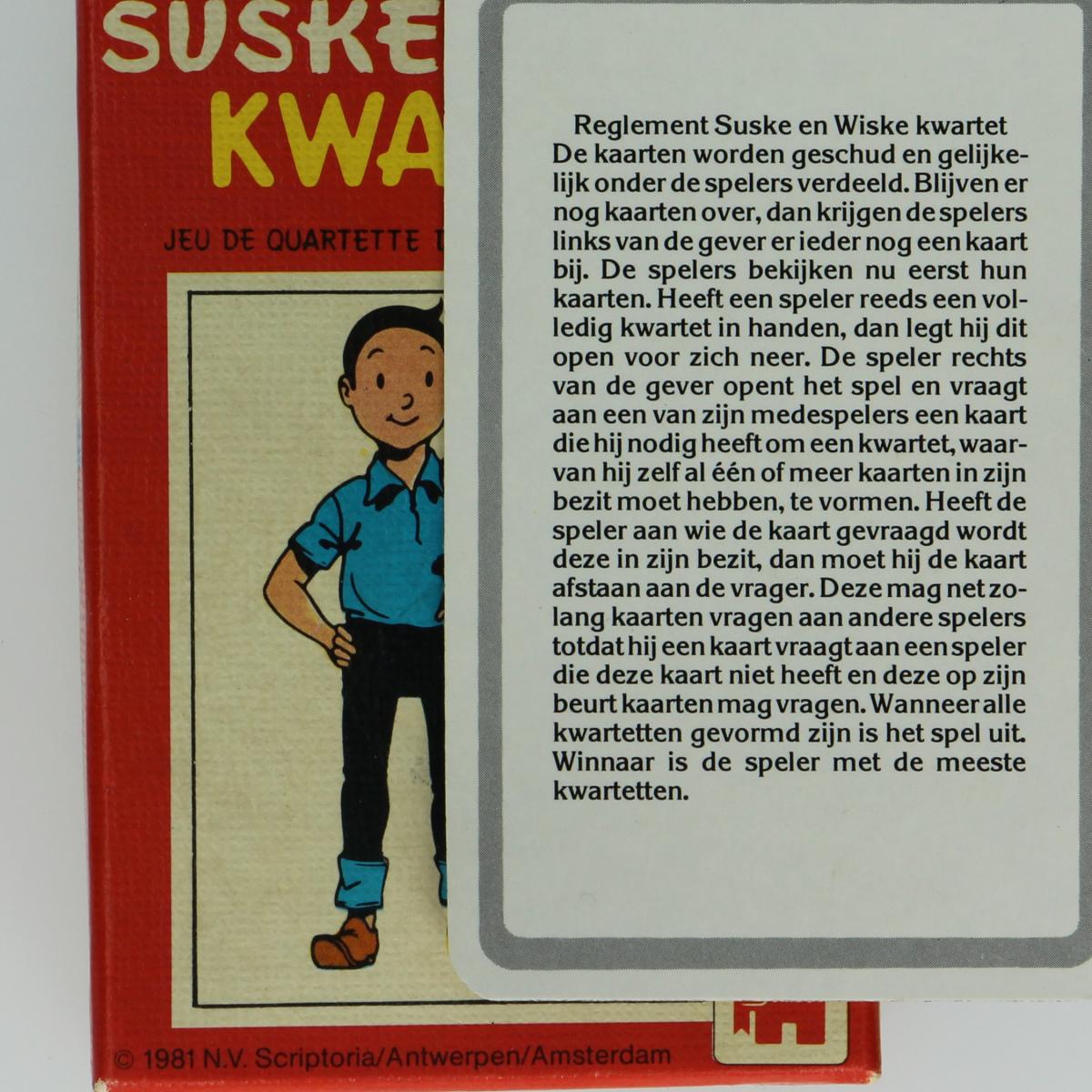 Afbeeldingen van Suske en Wiske Kwartetspel Jumbo 1981