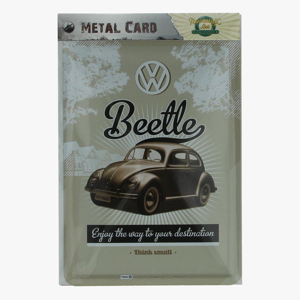 Afbeeldingen van metal card beetle volkswagen