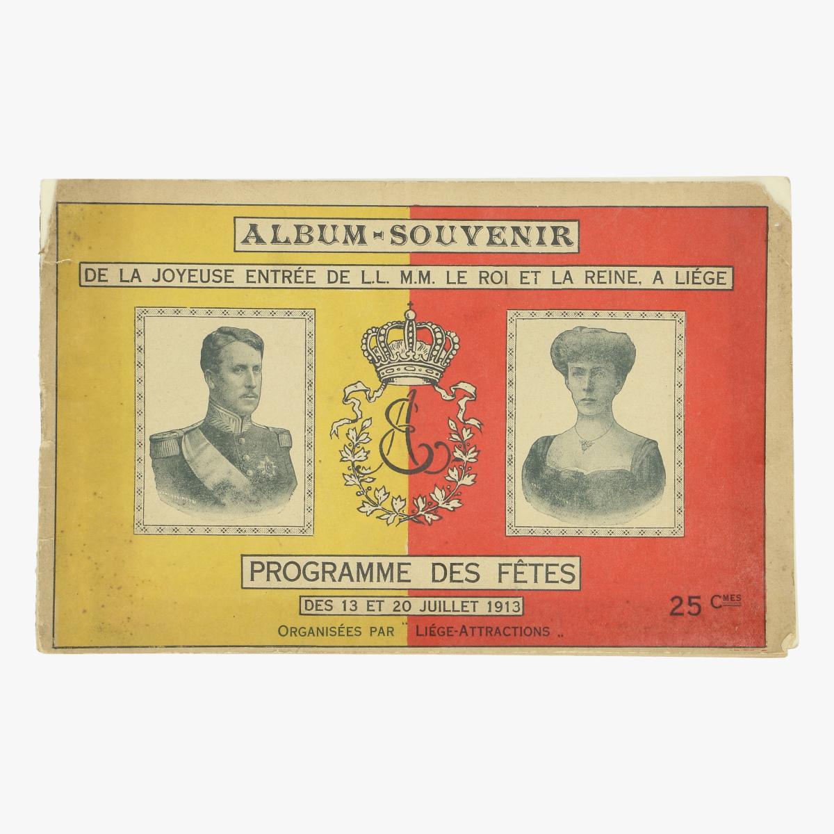 Afbeeldingen van album souvenier de la joyeuse entree de l.l  m.m roi et la reine, a Liege