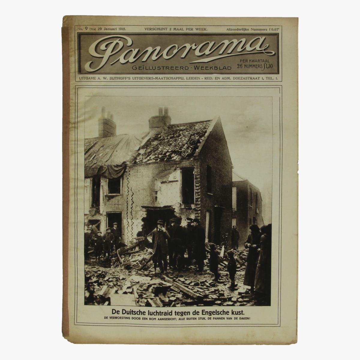 Afbeeldingen van oude weekblad panorama N°9  29 januari 1915