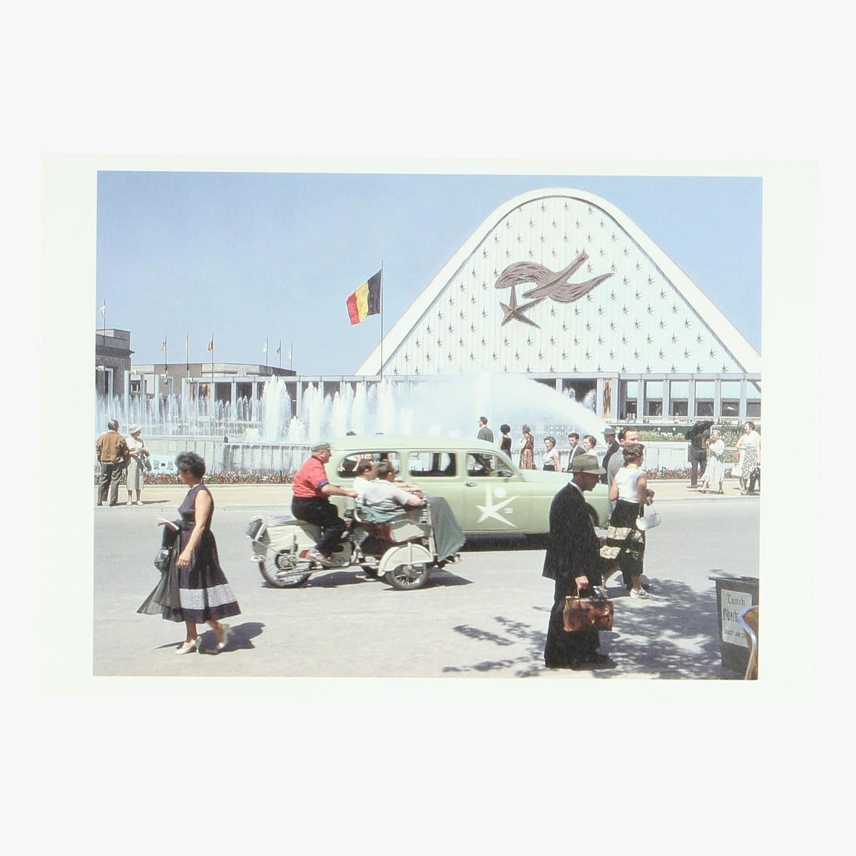 Afbeeldingen van postkaart expo 58 Belgieplein en paleis 5 repro