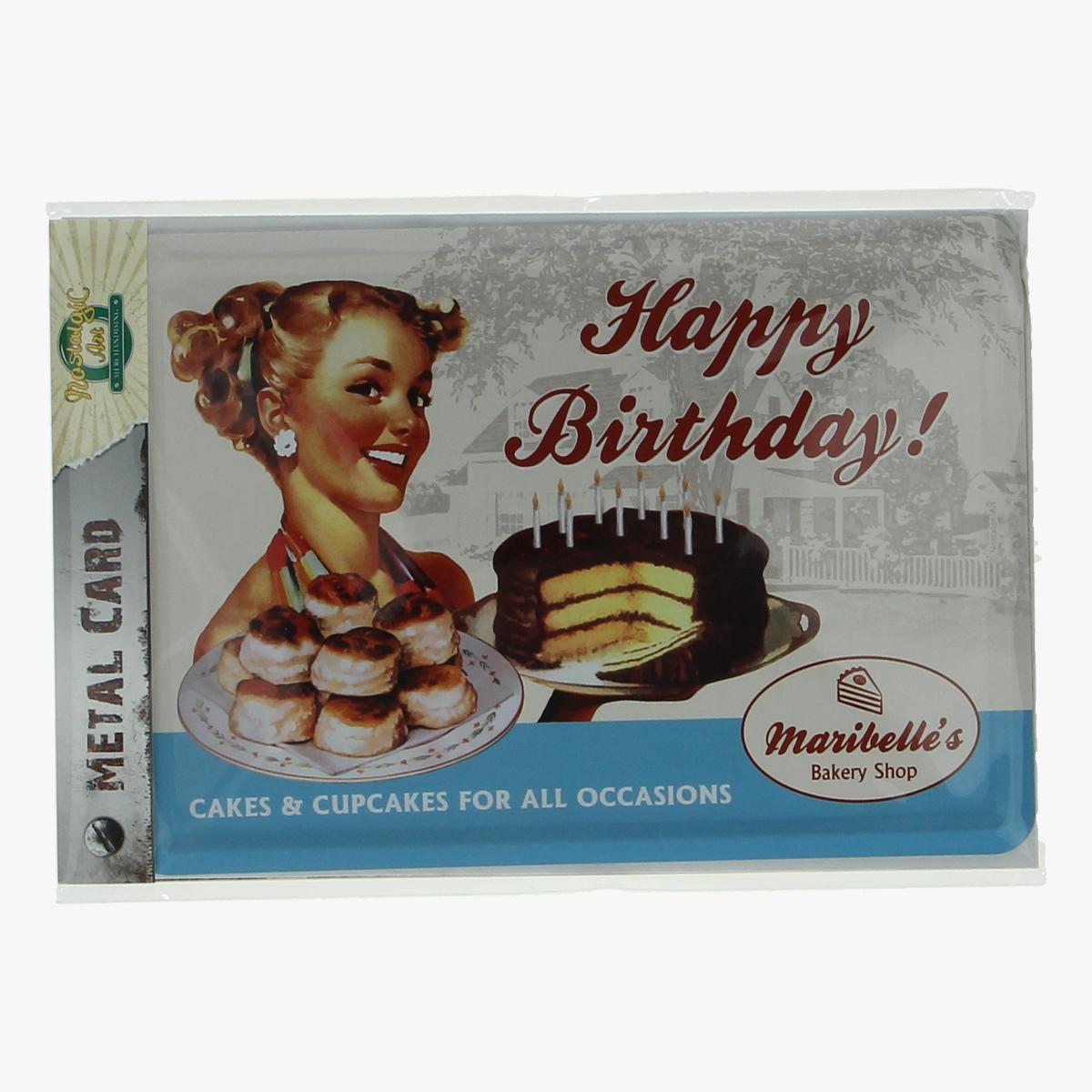 Afbeeldingen van metal card happy birthday!