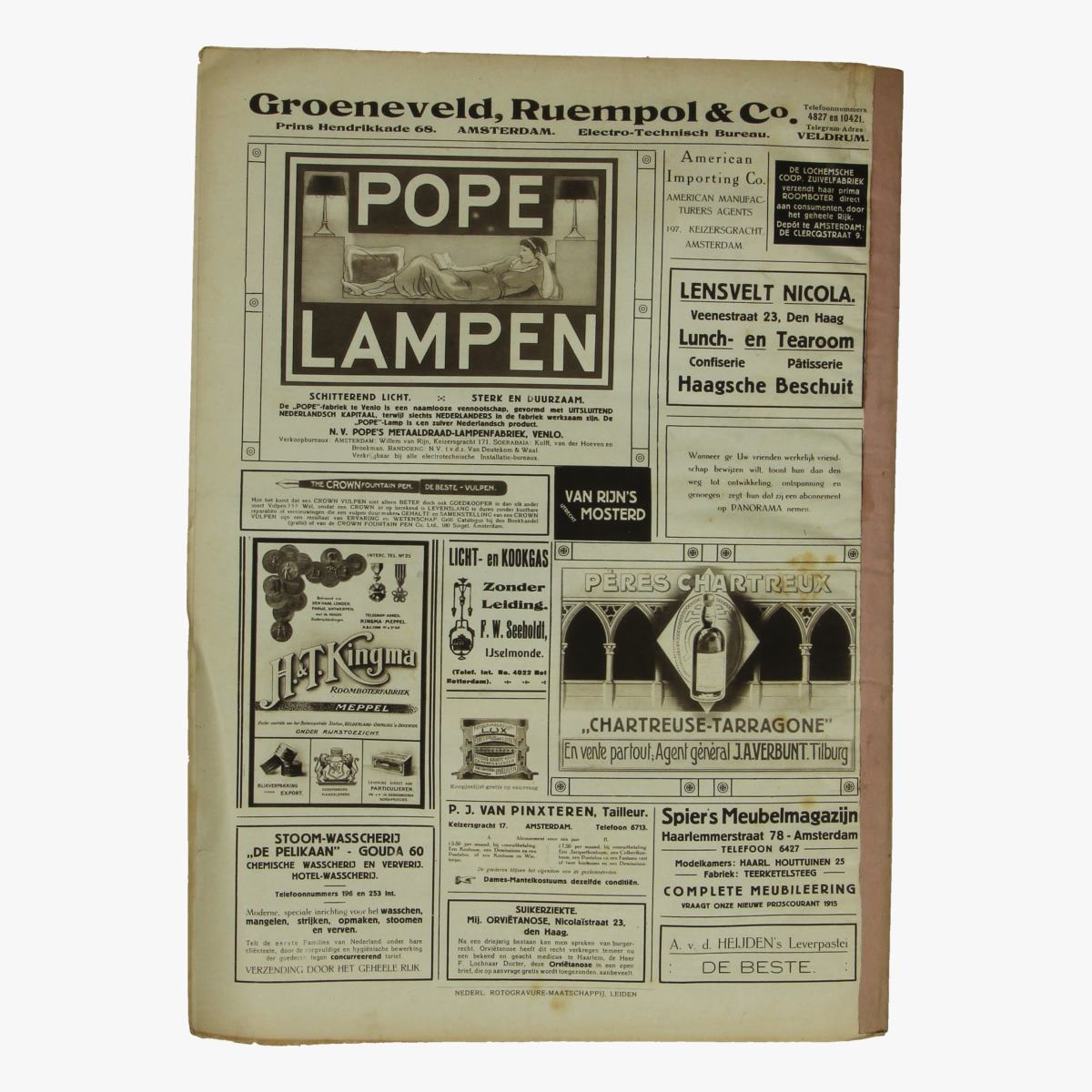 Afbeeldingen van oude weekblad panorama N°5   15 januari 1915