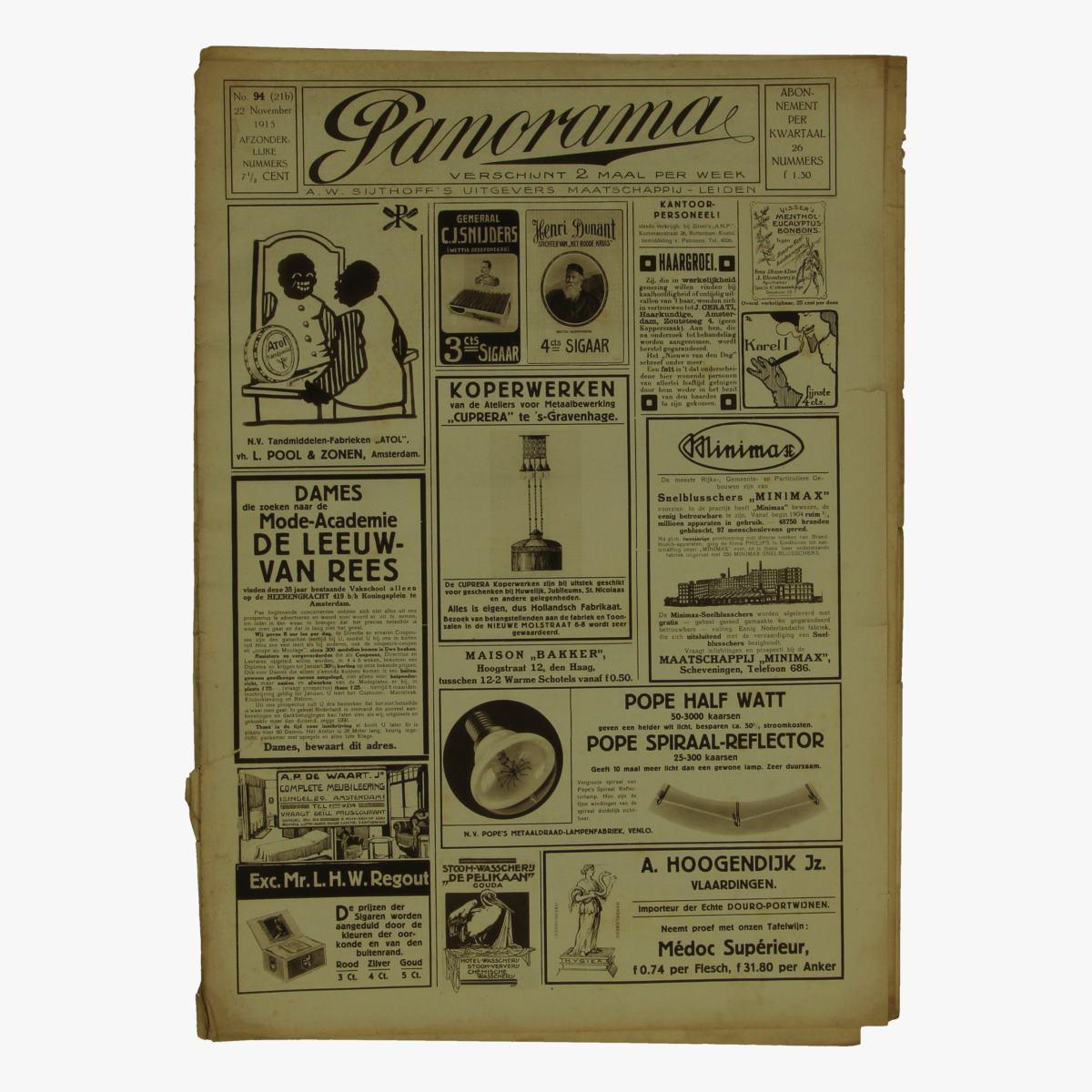 Afbeeldingen van oude weekblad panorama N°