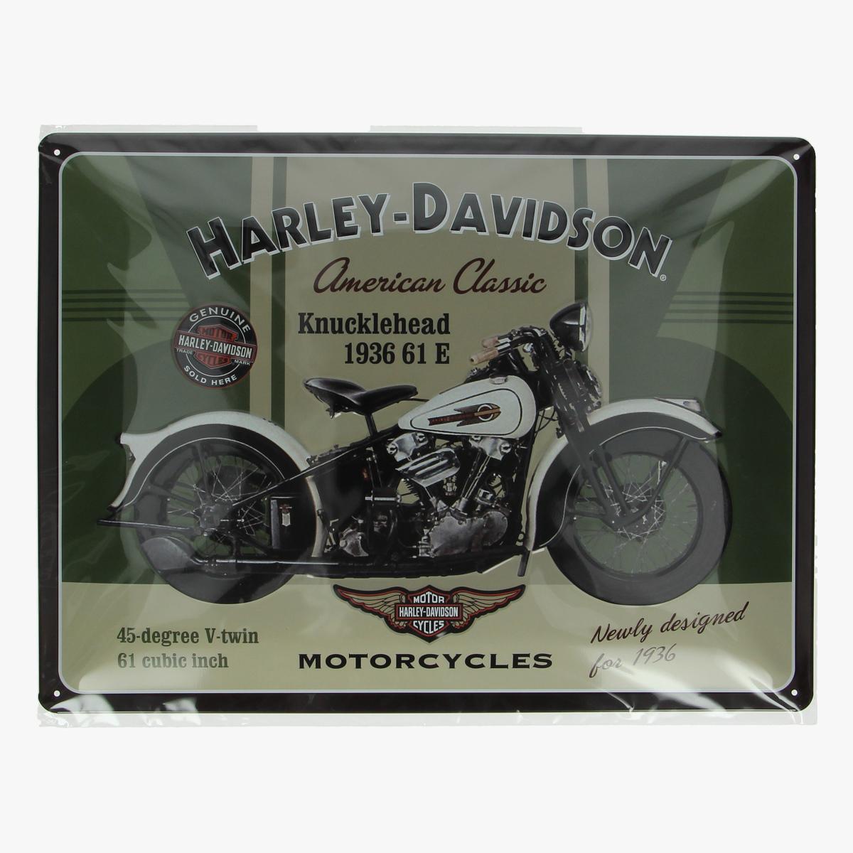 Afbeeldingen van blikken bordje Harley-Davidson repro geseald